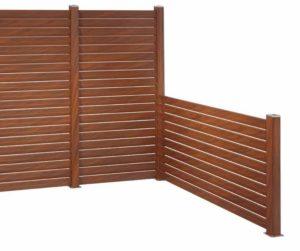vallado exterior de madera sintetica encapsulada