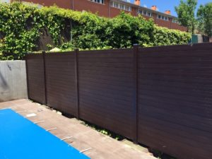 valla de madera sintetica encapsulada para cerramiento